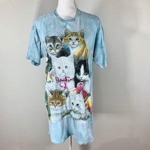 Vintage 90s T-Shirt Cat tie die kitch